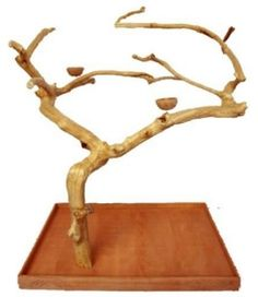 Java Wood Tree Parrot Play Stand | Bird Play Stand