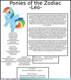 Zodiac Ponies: Leo (I'm one)