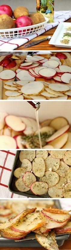 Baked Herb & Parmesan Potato Slices