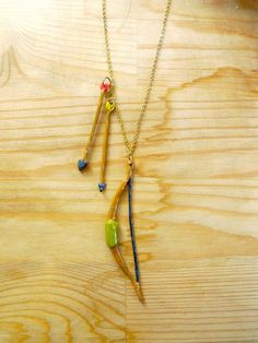 Hand painted bow and arrow necklace by Small Adventure on Etsy #renegadela