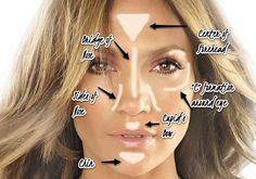 How to highlight your face using a luminizer or highlighter make up