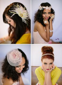 Pretty hairpieces from Lo Boheme
