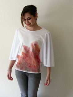 painted batwing shirt