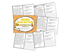 Highlight and Circle activities for finding topic sentences and key ...