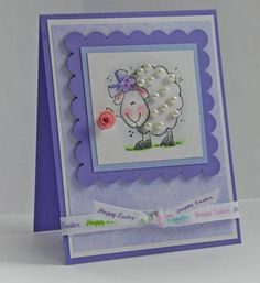 Happy Easter Sheep by flowergal36 - Cards and Paper Crafts at Splitcoaststampers