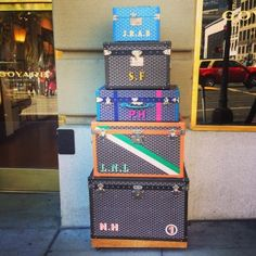 Goyard trunks monogrammed   Scenes from San Francisco | The Rich Life (on a budget)