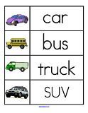 Word wall and more with transportation theme  Definitely want to use the word wall every week next year