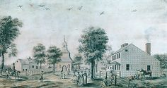 Brooklyn, Long Island (View of the Village Green), ca. 1778. The Metropolitan Museum of Art, New York.  Gift of Mr. and Mrs. J. William Middendorf II, 1966 (66.229.2) #newyork #nyc