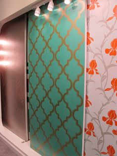 How many of you love wallpaper but hate the removal?  Tempaper has the solution!  An adhesive is already applied to make installation easy and removal is a snap.  So many patterns & colorways.  The grillwork pattern embraces the trending of gold, metallic accents.  #HPMkt Suites at Market Square