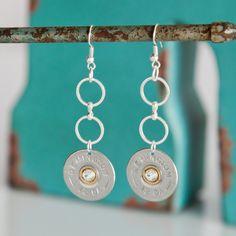 Bullet Earrings Bullet Jewelry Remington 12 by RicochetRounds, $24.95