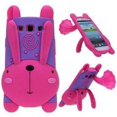 Happy Bunny (Pinkki) Samsung Galaxy S3 Silikonisuojus - http://lux-case.fi/happy-bunny-pinkki-samsung-galaxy-s3-silikonisuojus.html