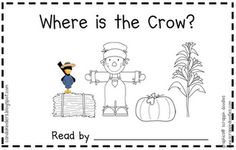 Scarecrow book with positional words