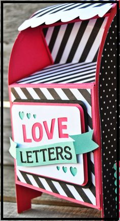 Artisan Wednesday Wow- Love Letters Mailbox Made with the Cameo and MDS. http://pinkbuckaroodesigns.blogspot.com/2014/02/aww-feb-1.html