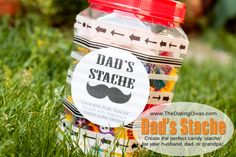 """Create the perfect candy """"stache"""" for your husband, dad, or grandpa!"""