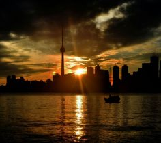 Golden sunsets over Toronto.