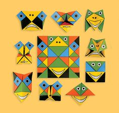Funny Face puzzle card from Cochae