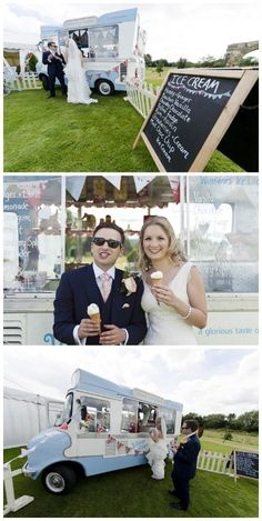 Vintage summer wedding inspiration, Nigel Edgecombe Photography, via Aphrodite's Wedding Blog. LOVE this idea! could get an ice cream truck, and a food truck and park them at the reception for a more laid back vibe.
