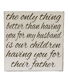 Take a look at this Cream & Brown Husband Wall Art on zulily today!