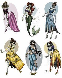 Zombie Disney Princess' = AWESOME