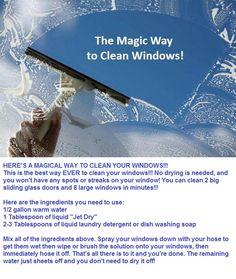 Magic way to clean windows