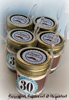 Dirt cups in mason jars - What a great idea!!