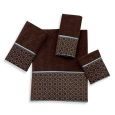 Cobblestone Mocha Towels by Avanti, 100% Cotton - Bed Bath & Beyond (in guest bath)/$9.99-$14.99 per piece