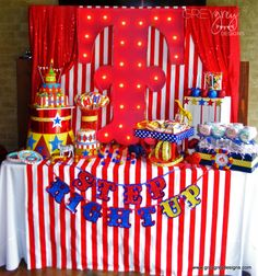 Circus Birthday Party Dessert Table - Project Nursery