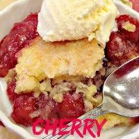 Cherry Dump Cake Cobbler