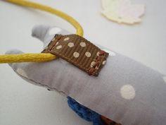 Cat Kids Necklace Pocket Friend Grey Mustard Blue by supercursi