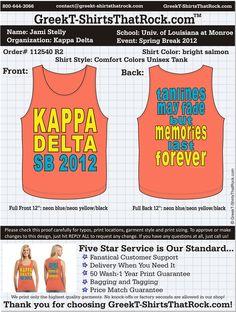 Kappa Delta Spring Break  http://www.greekt-shirtsthatrock.com/