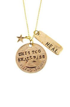 This to Shall Pass Necklace