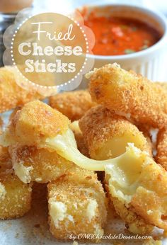 Fried Cheese Sticks - OMG Chocolate Desserts