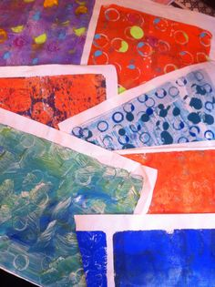 Gelli Printing on Rice Paper