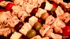 Antipasta skewers, good appetizer
