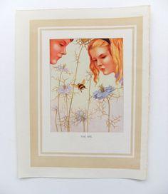 The Bee - Nursery Decor- Vintage Storybook Print - Margaret W. Tarrant - Nursery Art on Etsy, £6.50