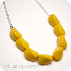 DIY beaded necklace tutorial from One Artsy Mama