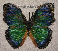craft pattern, bead butterfli