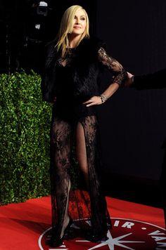 Madonna wearing Black lace