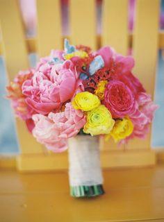 late summer bouquet, photo by Braedon Photography http://ruffledblog.com/malibu-beach-wedding-inspiration #weddingbouquet #flowers