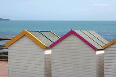 Beach Huts, Paignton, South Devon, England. ilovesouthdevon.com #devon