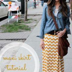 DIY Maxi Skirt {Women's Clothing}