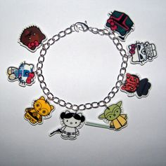 geek, hello kitti, charm bracelets, charms, starwar, stars, star wars, hello kitty, kitti star