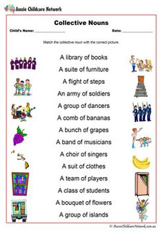 Lists of Collective Nouns for Animals, Persons and Things ...