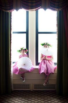 Love the idea of parasols for flower girl!