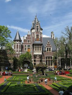 The Flemish garden or 'Vlaamse tuin' at the Antwerp Zoo in Belgium.