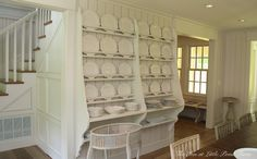The Inn at Little Pond Farm ... Love the plate rack shelving. Easy to DIY. What A Great Idea!