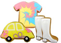 70's party cookies boot, cooki decor, cookie cutters, biscuit, dessert idea, parti cooki, 70s parti, decor cooki, 70s party