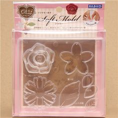 soft mold for clay flowers from Japan