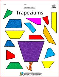 Trapeziums printables