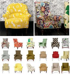 Upholstered Chairs @Lawren Smith Smith Smith, what mom wants to do with the dinning room table.